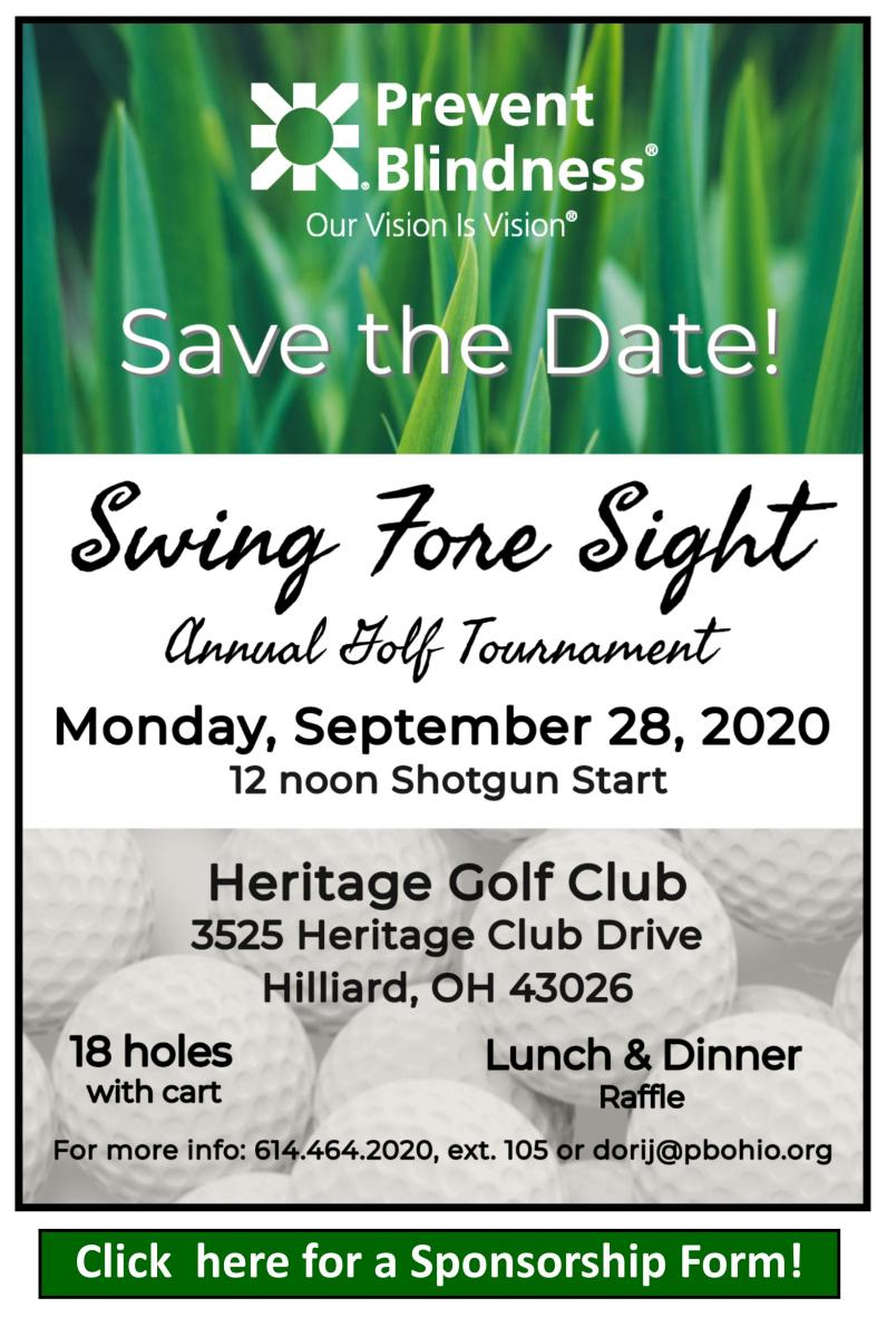 Swing fore Sight Columbus Save the Date